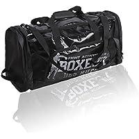 BOXEUR DES RUES Serie Fight Activewear, Borsone Unisex-Adulto, Nero, Taglia Unica