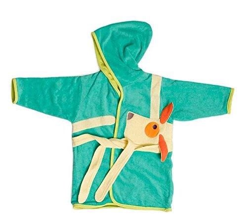 Egmont Toys Bademantel mit Kleiderbügel, Baby-Bademantel, Badeumhang Motiv: Hund, für 1-3 Jahre, Größe: 74-92