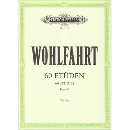 60 Etudes Opus 45 - violon - édition Peters