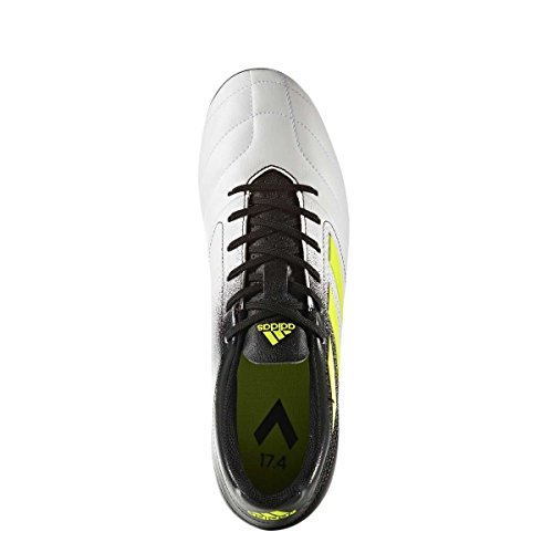 Scarpa Da Calcio Adidas Da Uomo 17.4 Fxg Da Uomo Ftwwht / Syello / Cblack