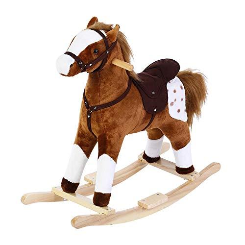 Mecedora de caballo, juguete para niños, asiento para caballos de paseo al aire libre, suave peluche...
