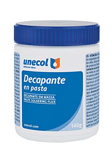 Unecol 7005 - Decapante (pasta, bote con pincel, 140 g) color blanco