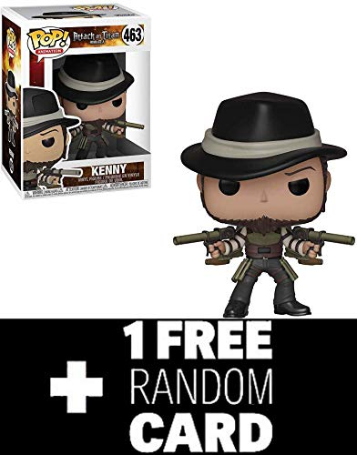 FunkoPOP Attack on Titan: Kenny Bundled with 1 Random Anime Themed Trading Card