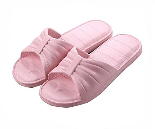 Auspicious beginning Sandales confortables Pantoufles de douche antidérapantes pour hommes et femmes D-rose