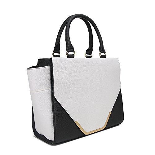 HB Style - Borsa sacchetto stile lusso Ragazza donna unisex adulti bianco