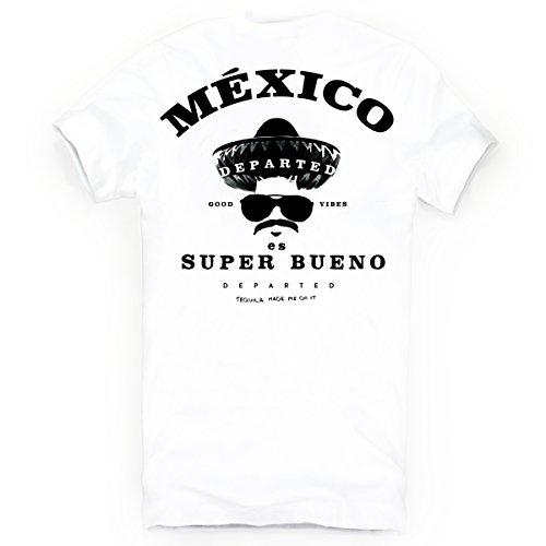DEPARTED Herren T-Shirt mit Print/Motiv 3927-020 - New fit Größe XL, White -