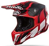 Airoh TWGR55 Twist Great Red Matt S, Rosso Opaco, 55-56 cm