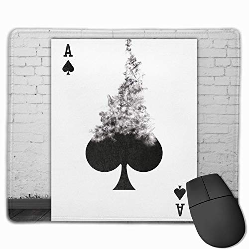 ASKSSD Mouse Pad Ace Spades Playing Card Art Rectangle Non-Slip 9.8in11.8 in Personalized Designs Gaming Rubber Mousepad Stitched Edges Mouse Mat