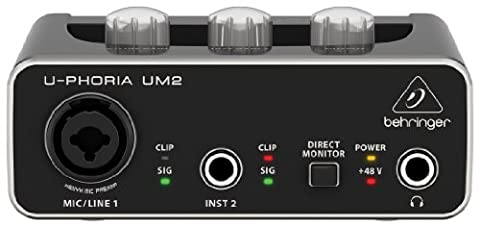 Behringer U-phoria UM2 Interface audio numérique USB