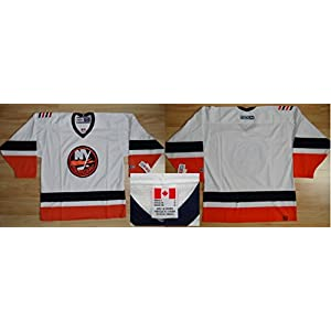 NHL Eishockey Trikot/Jersey NEW YORK NY ISLANDERS blank white in L (LARGE)