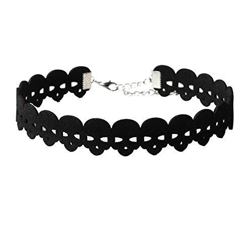 Halskette als Geschenk für Mütter, Frauen, Mädchen, Gothic, Samt, Skelett, Halsband, Schmuck, Halloween, ()