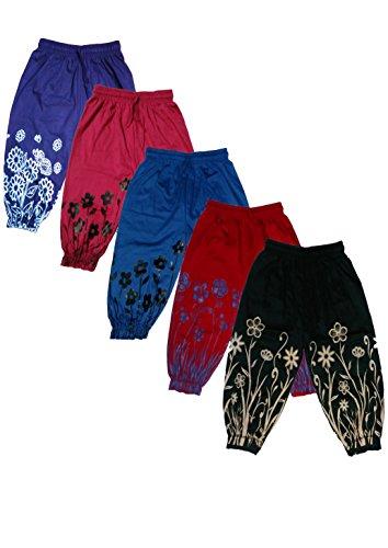 T2F Girls Capri (Pack Of 5) (T2FKC01_Multicolour_3-4 Years)