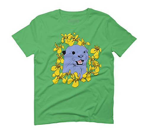 Otter & Flora Men's Graphic T-Shirt - Design By Humans Green