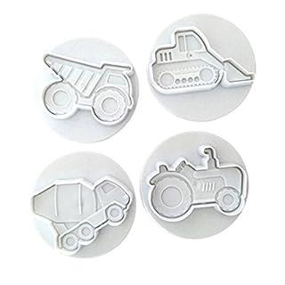 EJY 4pcs DIY Auto-Styling Plätzchenausstecher Cookie Cutters Plätzchenformen Backformen Fondant Keks Ausstechformen
