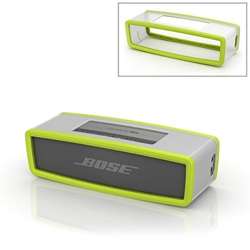 Verde morbida protettivo Custodia Borsa Cover Box Silicone Carry Case Bag Per Bose Soundlink Mini Bluetooth Speaker Altoparlante PC646