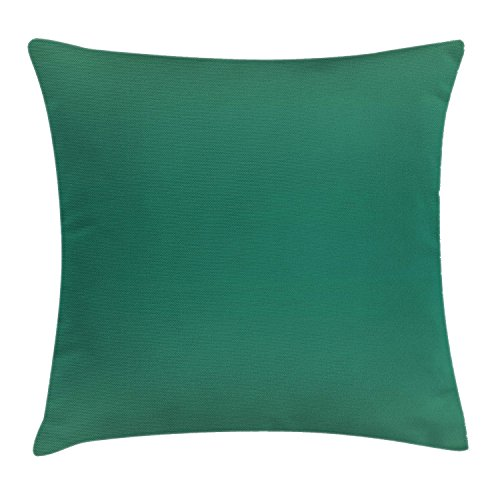 Ombre Throw Pillow Cushion Cover, Ocean Sea Waves Inspired Light Teal Color Design for Room Decorations Digital Print Image, Decorative Square Accent Pillow Case, 18 X 18 Inches, Teal - New Wave Cafe