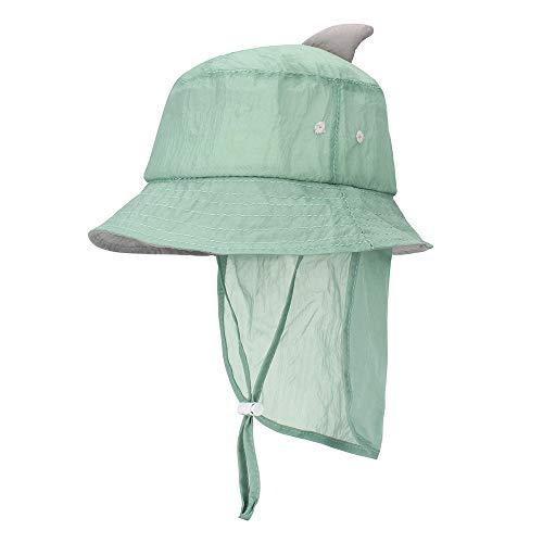 MK MATT KEELY Unisex Baby Multifunktions-Hut faltbar Kinder Sonnenhut Kleinkind Eimer Mütze mit Abnehmbarer Nackenklappe Gr. One Size, grün