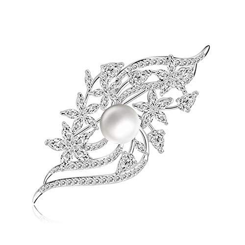 Peggy Gu schmuck Elegante Strass Crystal Pearl Brosche Pins für Frauen, Mädchen, Damen kostüm - Accessoire
