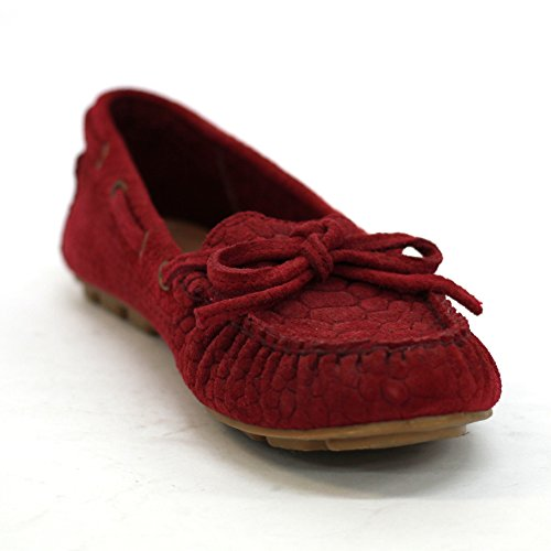 lucky-brand-suede-leather-deck-lady-shoes-embossed-uk-size-35
