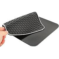 kingwon 164mm x 270mm multifunzione in gomma porta cellulare antiscivolo Pad Mat per cellulare, chiavi e altri GADGET- Nero - Gomma Car Mats