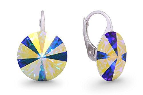 Ana Morales Boucles d'oreilles pour femme En argent Sterling 925 Avec cristaux Swarovski Boreale