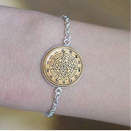 Wiccan Pulseras, Wiccan Protección Amuleto Símbolo Joyería, Wicca Talisman bruja Joyería