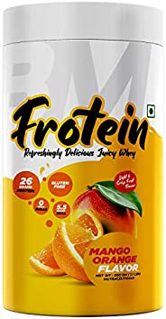 Bigmuscles Nutrition Frotein 26g Refreshing Mango Orange Flavored Hydrolysed Whey Protein Isolate 6 g Glutamin