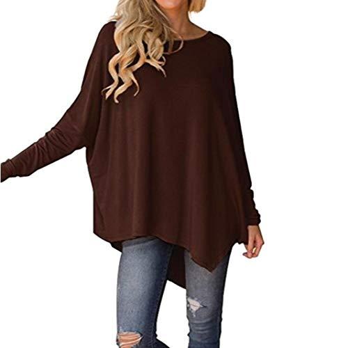 TianWlio Langarmshirt Damen T-Shirt Damen Langarmshirt Frauen Langarm T-Shirt O-Ausschnitt Pure...