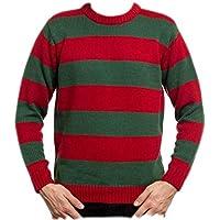 KK TRADERS (MCR) LTD Mens New Freddy RED/Green Striped Jumper HAT OR Set Kruger Halloween Fancy Dress