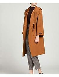 LUCKY CLOVER-A Cappotto da Donna Inverno Cappotto Militare in Lana di  Cachemire con Cappuccio Cintura da Donna Abiti Invernali Fatti a… 21d702db267