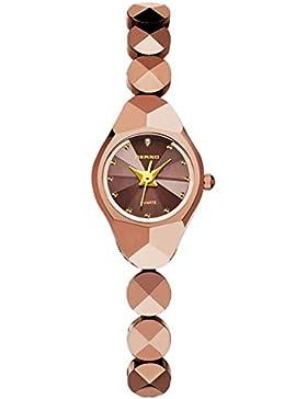 Mode Elegant Edelstahlarmband Quarz Armbanduhr Für Damen, Roségold