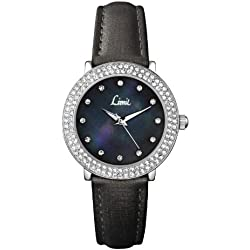 Limit Women's Quartz Watch with Black Dial Analogue Display and Black PU Strap 6939.35