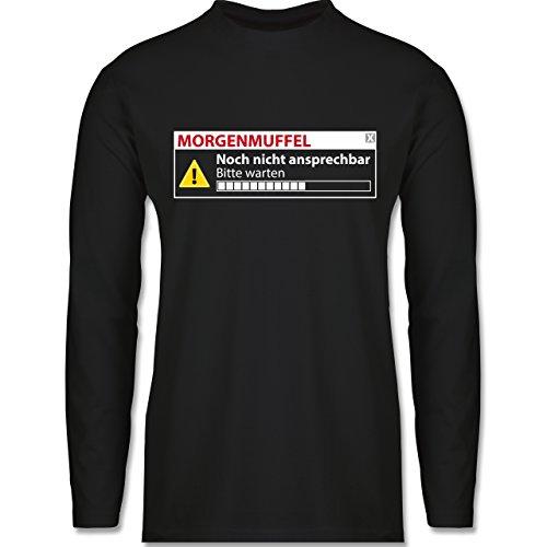 Shirtracer Sprüche - Morgenmuffel - Nicht Ansprechbar - Herren Langarmshirt Schwarz