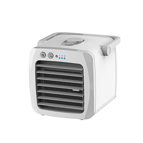 Altsommer Mini Luftkühler, USB Portable Small Air Conditioner Mobile Klimaanlage/Tischventilator/Luftkühler/Tragbare Klimaanlage/Ventilator/Luftbefeuchter/Luftreiniger - Akku-betrieb-stromversorgung