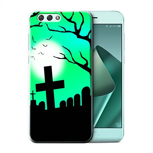 Stuff4® Hülle/Case für Asus Zenfone 4 ZE554KL / Unheimlich Friedhof Muster/Halloween Szene Kollektion
