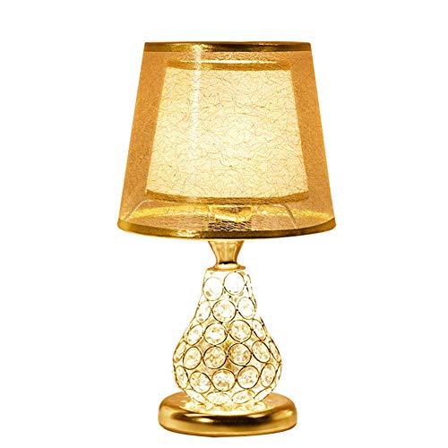 Tischlampe Schreibtischlampe-rot warm und romantisch Kristall Hochzeit Nachttischlampe Schlafzimmer benutzerdefinierte Geschenk [Energieklasse A ++] ()