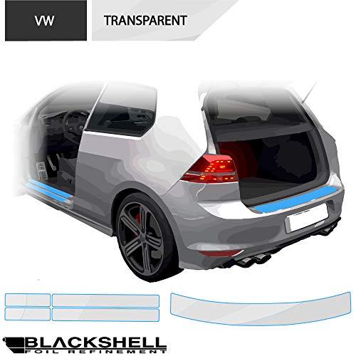 BLACKSHELL Ladekantenschutz + Einstiegsleisten Set inkl. Premium Rakel für Golf 7 Variant Typ AU Transparent - passgenaue Lackschutzfolie, Auto Schutzfolie