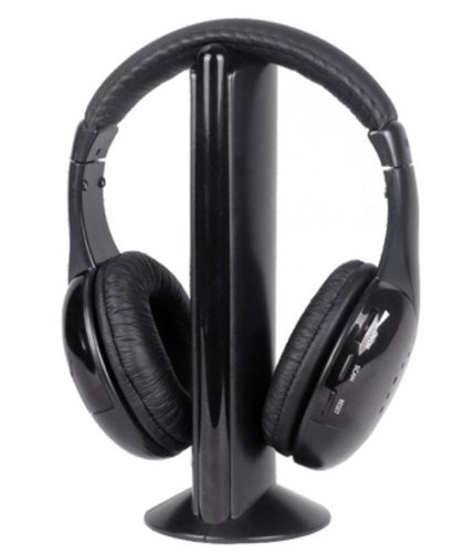 Intex Wireless Roaming Over-Ear Headphones, Black (No Bluetooth)