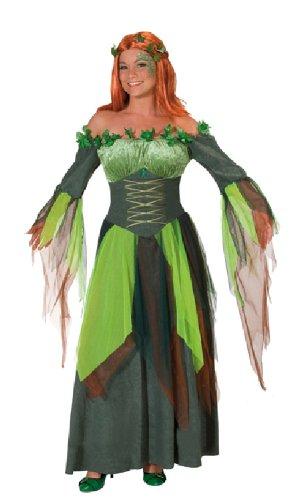 Karneval Damen Kostüm Waldfee Kleid Wald Nymphe an Fasching Gr.36 (Wald Nymphe Kostüm)