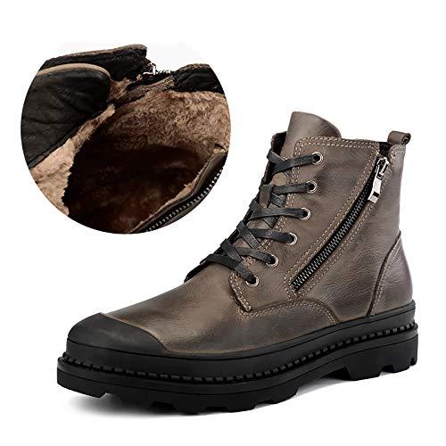 BANGWEI QianliXi Herren Stiefel Herren,Boots,Herren Boots reißverschluss,Sicherheitsschuhe,Geeignet für Feldtraining, Outreach-Training, Outdoor-Tourismus -