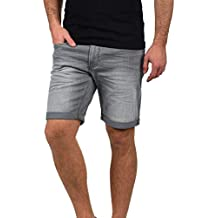 ced51b98f99 Blend Grilitsch Short en Jean Pantalon Court Denim pour Homme Extensible  Coupe Slim