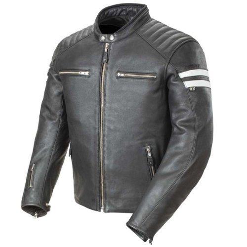 Joe Rocket Classic '92 Men's Leather Motorcycle Jacket (Black/White, Medium) by Joe Rocket - Mens Joe Rocket