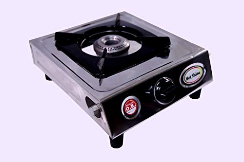 Hot Shine Single Burner ISI Approved Gas Stove Stainless Steel (Classic, Brass Burner)