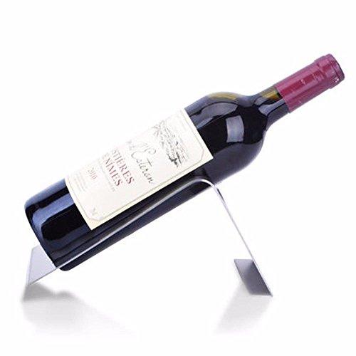 GQFGYYL Edelstahl - Wein Rack Einzelne Flasche Wein Inhaber Rack Display (Rack Einzelne Flasche)