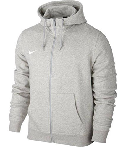 Nike Kinder Team Club Full-Zip Hoody Kapuzenjacke Sweatshirt Team Club Full Zip, Gr. XS, Grau (Grey Heather/Grey Heather/Football White) -