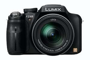 Panasonic Lumix DMC-FZ48EG-K Digitalkamera (12,1 Megapixel, 24-fach opt. Zoom, 7,5 cm (3 Zoll) Display, Bildstabilisator) schwarz