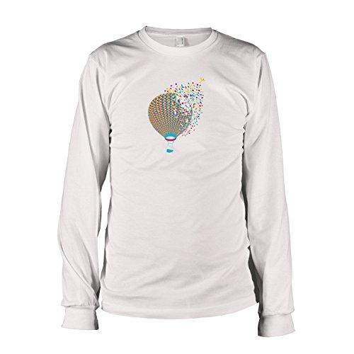 Krysom - Color Balloon - Herren Langarm T-Shirt, Größe XXL, weiß