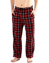 Mens Classic Checked and Space Polar Fleece Lounge Wear Pyjama Trouser Bottoms