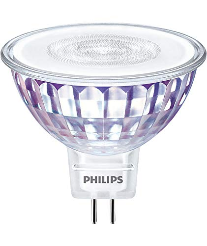 PHILIPS 7 Watt LED Lampe 827 warmweiß extra 36 Grad MR16 Reflektorlampe Birne dimmbar für Halogentrafo 12V