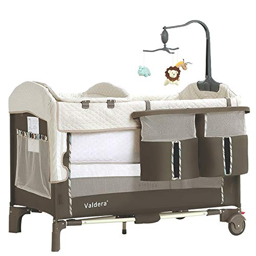 JYXZ Tragbar Reisebetten Kinderbett für Baby-Laufgitter mit Transporttasche, Kompaktes Klappspielbett Spielbereich